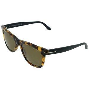 FT0336-LEO-55J Men's Havana Frame Sunglasses